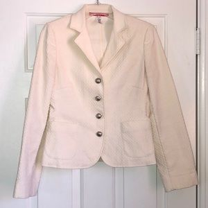 Anne Klein cream/winter white blazer
